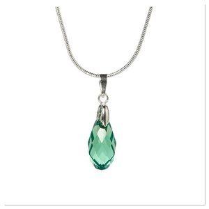 Green Swarovski Crystal Pendant Necklace